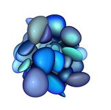3d blue purple abstract glossy blob Royalty Free Stock Photos