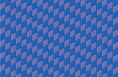 3d blue purple tiled wall floor pavement Stock Image