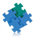 3D blue puzzle Royalty Free Stock Photography
