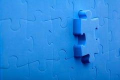 3D blue puzzle Stock Image