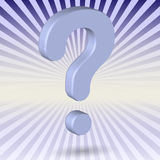 3d Blue Question Mark Royalty Free Stock Photo