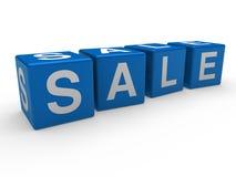 3d blue sale cube. 3d cube blue sale discount retail business Stock Photography