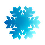 3D blue snowflake. Illustrated blue snowflake in 3D Royalty Free Stock Photography