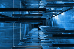 3D blue space Stock Images