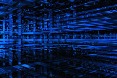 3D blue space. Available for background Royalty Free Stock Photos