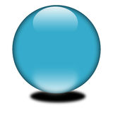 3d blue sphere. 3d blue colored sphere.  Eye catching glossy orb for your e-business or website Royalty Free Stock Image