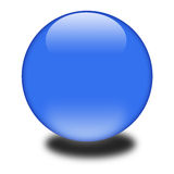 3d blue sphere. 3d blue colored sphere.  Eye catching glossy orb for your e-business or website Royalty Free Stock Images