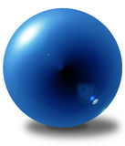 3D blue sphere Stock Photos