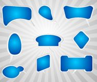 3D Blue text bubbles. For fun, work, company Royalty Free Stock Images