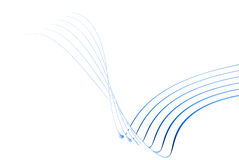 3d blue thin lines. On a white background Royalty Free Stock Photography