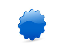 3D blue vector badge. 3D blue badge isolated on white background. Vector illustration Royalty Free Stock Photos