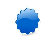 3D blue vector badge Royalty Free Stock Photos
