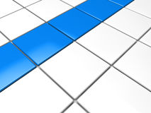 3d blue white cube background. Area abstract Stock Photo