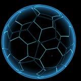 3D blue xray transparent classic ball. 3D rendered blue xray transparent classic ball Stock Photo