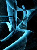 3D Blues. An abstract 3D background in blue Stock Images