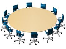 3D Boardroom perspective Royalty Free Stock Images
