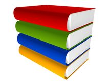 3d boekbibliotheek stock illustratie