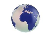 3d Bol - Europa en Afrika Stock Afbeeldingen