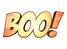 3D Boo. 3D rendered word Boo in orange. Also available in .png format if transparent background is needed Stock Photo