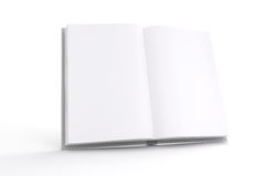 3d book with blank pages. On white background Stock Photo