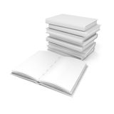 3d book with blank pages. On white background Royalty Free Stock Image