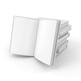 3d book with blank pages. On white background Stock Photography