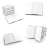 3d book with blank pages. On white background Royalty Free Stock Photos