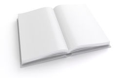 3d book with blank pages Royalty Free Stock Photos