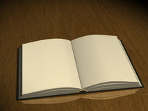 3d book with empty pages. Opened 3d book with empty pages Stock Image