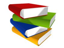 3d book library Stock Photo