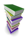 3d books. Illustration of a pile of colored (coloured) books Stock Image