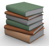 3d books. 3d renders of books on white background Stock Photography