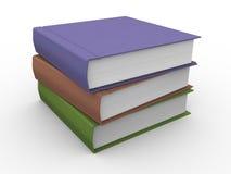 3d books. 3d illustration of stack of books on white background Stock Image