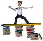 3d books att surfa för affärsman vektor illustrationer