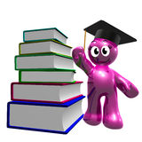 3d books avläggande av examensymbolen vektor illustrationer