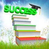 3d books avläggande av examensymbolen stock illustrationer
