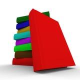 3d books bilden isolerade stapeln stock illustrationer