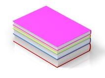 3d books det färgrika framförandet stock illustrationer