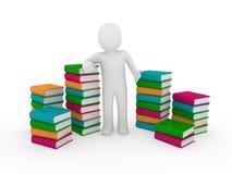 3d books humanen Arkivfoton