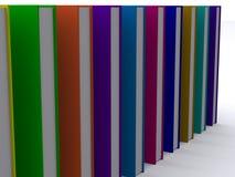 3d books lineupen Arkivfoto