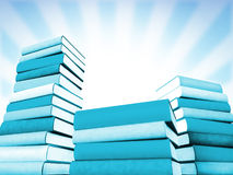 3d books massive for design Royalty Free Stock Photo