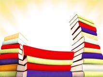 3d books massive for design. 3d books massive for great design Stock Images