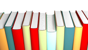 3d books massive for design Stock Photos
