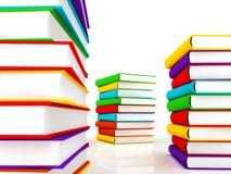 3d books massive for design. 3d books massive for great design Stock Photography