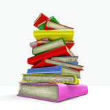 3D books in a pile. 3D books piled upon eachother Royalty Free Stock Photography