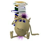 3d books stapeldockasitting Royaltyfria Foton