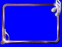 3D BORDER. 3d renderd border on blue screen Stock Photos