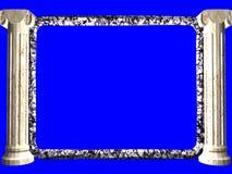 3D BORDER. 3d renderd border on blue screen Royalty Free Stock Photo