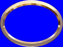 3D BORDER. 3d renderd border on blue screen Royalty Free Stock Images