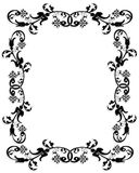 3D border frame black. 3D Illustration for ornamental frame, background or border in black and white Royalty Free Stock Images